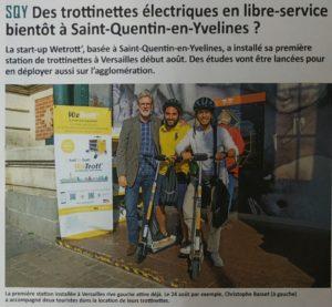 Des trottinettes électriques en libre-service